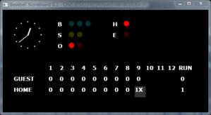 図137 野球のスコアボード
