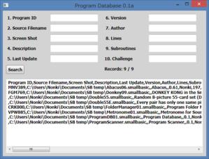 図144 プログラムデータベース 0.1a