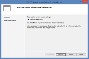 Win32 Application Wizard