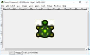 図168 GIMPに読み込んだPPMファイル